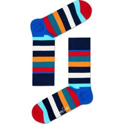 Happy Socks - Skarpety Stripes. Szare skarpetki męskie Happy Socks, z bawełny. W wyprzedaży za 29,90 zł.