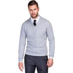 Sweter GERALDO SWPR000157. Brązowe swetry klasyczne męskie Giacomo Conti, m, z tkaniny. Za 229,00 zł.