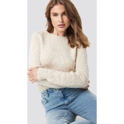 Trendyol Sweter Boucle - Beige. Szare swetry klasyczne damskie marki Vila, l, z bawełny, z okrągłym kołnierzem. Za 80,95 zł.
