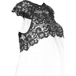 Sukienka ciążowa na uroczyste okazje bonprix biel wełny. Białe sukienki ciążowe marki bonprix, z koronki, eleganckie, moda ciążowa. Za 149,99 zł.