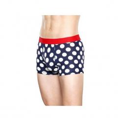 Bielizna męska Happy Socks  - Big Dot Trunk (BDO87-6004). Szara bokserki męskie Happy Socks, z materiału. Za 79,90 zł.