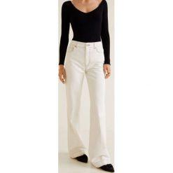 Mango - Jeansy Choco. Białe jeansy damskie z wysokim stanem Mango. Za 199,90 zł.