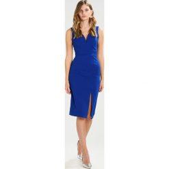Sukienki hiszpanki: WAL G. V NECK MIDI  Sukienka etui dark cobalt blue