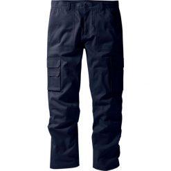 """Spodnie """"bojówki"""" z powłoką z teflonu Regular Fit Straight bonprix ciemnoniebieski. Niebieskie bojówki męskie bonprix. Za 124,99 zł."""