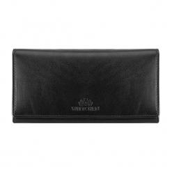 Skórzany portfel w kolorze czarnym - (S)10 x (W)19 cm. Czarne portfele damskie Wittchen, z materiału. W wyprzedaży za 199,95 zł.