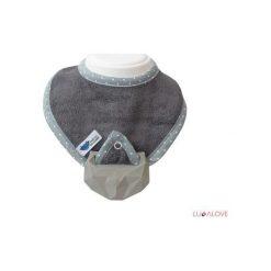 Śliniak supeRRO Baby HEVEA, szary (LLV_SUP-0003). Szare śliniaki marki LullaLove. Za 49,00 zł.