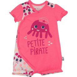 Śpiochy niemowlęce: Rampers w kolorze różowym