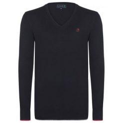Sir Raymond Tailor Sweter Męski Bye M Czarny. Czarne swetry klasyczne męskie Sir Raymond Tailor, m, z aplikacjami. W wyprzedaży za 129,00 zł.