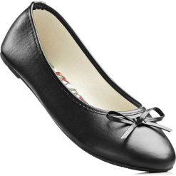 Baleriny bonprix czarny. Czarne baleriny damskie lakierowane bonprix, z syntetyku. Za 44,99 zł.
