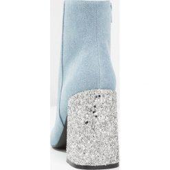 Botki damskie lity: Shellys London HUGSY Botki na obcasie denim/glitter