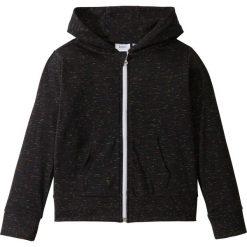 Odzież dziecięca: Bluza  rozpinana melanżowa bonprix czarny melanż