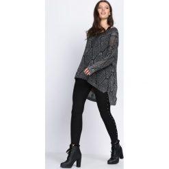 Swetry klasyczne damskie: Srebrny Sweter Run The Worlds