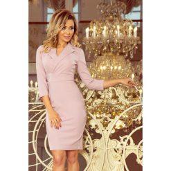 8c39dfa2efda Kelly Elegancka Sukienka Z Dekoltem Lila. Brązowe sukienki damskie numoco