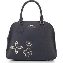 Torebka damska 87-4E-436-1. Czarne kuferki damskie marki Wittchen, w kwiaty, na ramię. Za 659,00 zł.