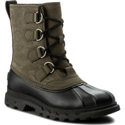 Śniegowce SOREL - Portzman Classic Camo NM2633 Black 383. Zielone śniegowce męskie Sorel, z gumy. W wyprzedaży za 419,00 zł.