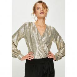 Answear - Bluzka Animal Me. Szare bluzki z odkrytymi ramionami marki ANSWEAR, l, z poliesteru, z długim rękawem, długie. Za 189,90 zł.