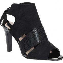 Czarne sandały na obcasie z kokardą Sergio Leone 1489. Czarne sandały damskie marki Sergio Leone. Za 108,99 zł.