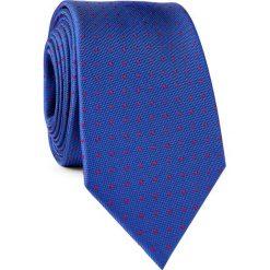 KRAWAT KWGR001748. Czerwone krawaty męskie Giacomo Conti, w kropki, z mikrofibry, eleganckie. Za 69,00 zł.