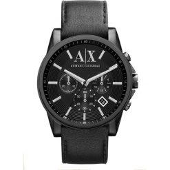 Armani Exchange Zegarek chronograficzny schwarz. Czarne zegarki męskie marki Armani Exchange, l, z materiału, z kapturem. Za 929,00 zł.