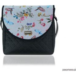 TOREBKA PURO 2052 BIRDS. Szare torebki klasyczne damskie Pakamera, w kolorowe wzory. Za 179,00 zł.