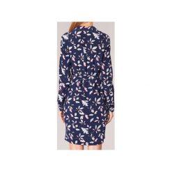 Sukienki krótkie Tommy Hilfiger  NEA SHIRT DRESS LS. Niebieskie sukienki mini marki TOMMY HILFIGER, z krótkim rękawem. Za 591,20 zł.
