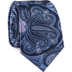 Krawat KWWR001776. Szare krawaty męskie Giacomo Conti, paisley, z mikrofibry, klasyczne. Za 69,00 zł.