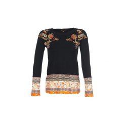 Swetry Desigual  NOOR. Czarne swetry klasyczne damskie Desigual, l. Za 314,10 zł.