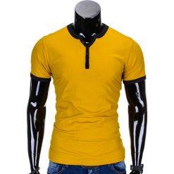 T-SHIRT MĘSKI BEZ NADRUKU S651 - ŻÓŁTY. Żółte t-shirty męskie z nadrukiem Ombre Clothing, m. Za 29,00 zł.