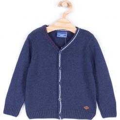 Sweter. Niebieskie swetry chłopięce ELEGANT BABY BOY, na zimę, z bawełny, z klasycznym kołnierzykiem. Za 49,90 zł.