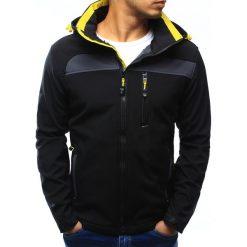 Kurtka męska softshell z kapturem czarna (tx1881). Czarne kurtki męskie przejściowe marki Dstreet, m, z poliesteru, z kapturem. Za 149,99 zł.
