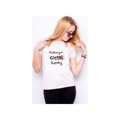 Koszulka damska MISTRZYNI CIĘTEJ RIPOSTY. Białe t-shirty damskie Tailormade24, xl, z nadrukiem, z bawełny. Za 45,00 zł.