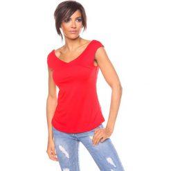 """Bluzki asymetryczne: Koszulka """"Chichko"""" w kolorze czerwonym"""