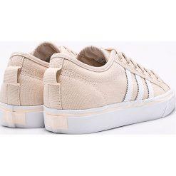 Adidas Originals - Buty Nizza. Brązowe buty sportowe damskie marki adidas Originals, z bawełny. W wyprzedaży za 219,90 zł.