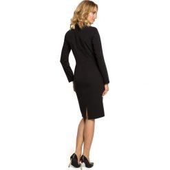 LYLA Sukienka z żabotem - czarna. Czarne sukienki na komunię marki Moe, do pracy, s, biznesowe, z żabotem, ołówkowe. Za 179,90 zł.