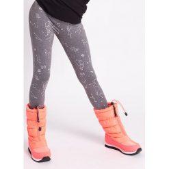 Legginsy sportowe dla dziewczynek (92-164) JLEG402z - szary melanż - 4F. Szare buty sportowe dziewczęce 4F JUNIOR, melanż, z dzianiny. Za 39,99 zł.
