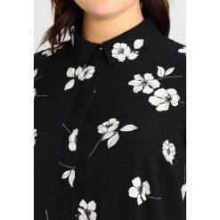 Bluzki asymetryczne: Dorothy Perkins Curve SHIRT MONO FLORAL Bluzka black