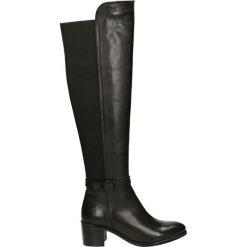 Kozaki - CATHY1817 BLA. Czarne buty zimowe damskie marki Venezia, z materiału, na obcasie. Za 479,00 zł.