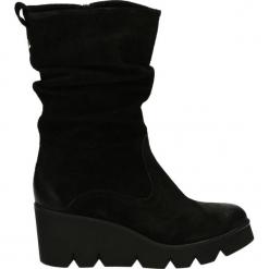 Kozaki ocieplane - 1456 CAM NERO. Czarne buty zimowe damskie Venezia, ze skóry. Za 179,00 zł.