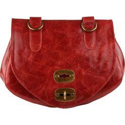 Torebki klasyczne damskie: Skórzana torebka w kolorze czerwonym – 29 x 19 x 13 cm