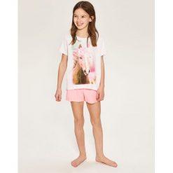 Piżama dwuczęściowa z szortami - Biały. Białe bielizna chłopięca marki Reserved, l. Za 59,99 zł.