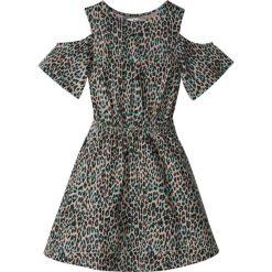 Odzież dziecięca: Sukienka z wycięciami na ramionach bonprix cętki leoparda