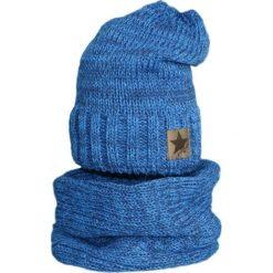 Czapka z kominkiem ocieplana Cz+K 156B niebieska r. 52-54. Niebieskie czapeczki niemowlęce Proman. Za 60,07 zł.