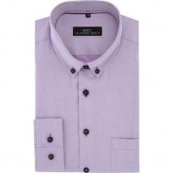 Koszula MICHELE 2 16-04-18-K. Fioletowe koszule męskie jeansowe marki Giacomo Conti, m, button down, z długim rękawem. Za 169,00 zł.