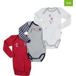 Body niemowlęce: Body (3 szt.) w kolorze szarym i czerwonym