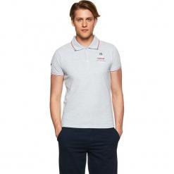 Koszulka polo w kolorze jasnoszarym. Szare koszulki polo marki Vistula, l, z haftami. W wyprzedaży za 79,95 zł.