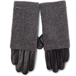 Rękawiczki Damskie WITTCHEN - 39-6-563-1 Czarny Szary. Czarne rękawiczki damskie Wittchen, z materiału. Za 249,00 zł.