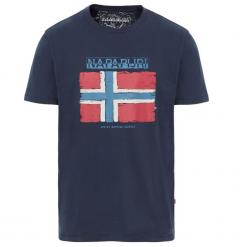 T-SHIRT Sadrin BLUE MARINE. Szare t-shirty męskie marki Napapijri, l, z materiału, z kapturem. Za 127,49 zł.