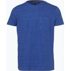 Tommy Hilfiger - T-shirt męski, niebieski. Szare t-shirty męskie marki TOMMY HILFIGER, z bawełny. Za 139,95 zł.