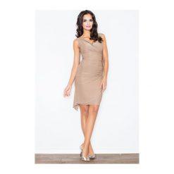 Sukienka Beatrice M053 Beż. Białe sukienki marki NIFE, eleganckie. Za 89,00 zł.