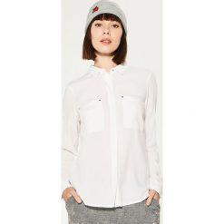 Gładka koszula - Biały. Szare koszule męskie marki House, l, z bawełny. Za 69,99 zł.